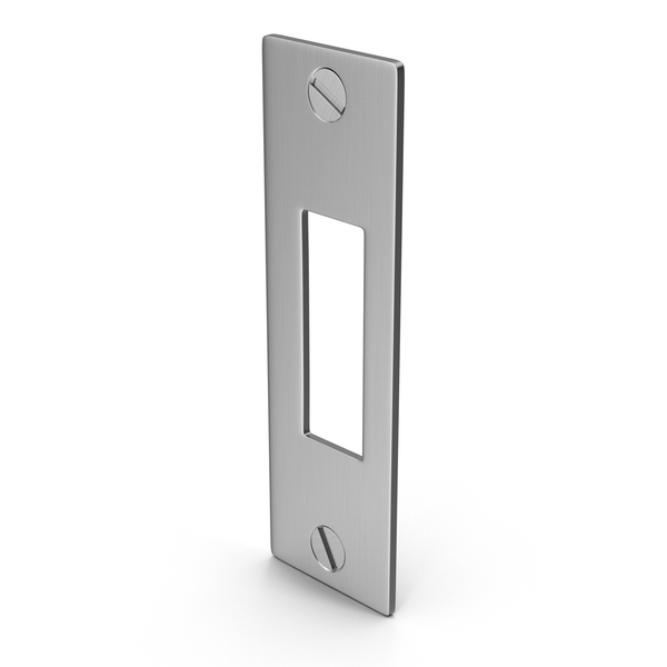 Deadbolt Lock: Deadlock Strike Plate With Screwhead PNG & PSD Images
