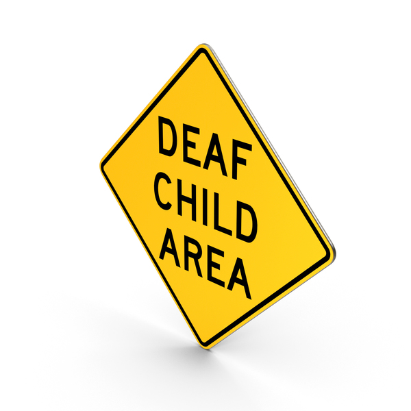 Deaf Child Area Road Sign PNG & PSD Images