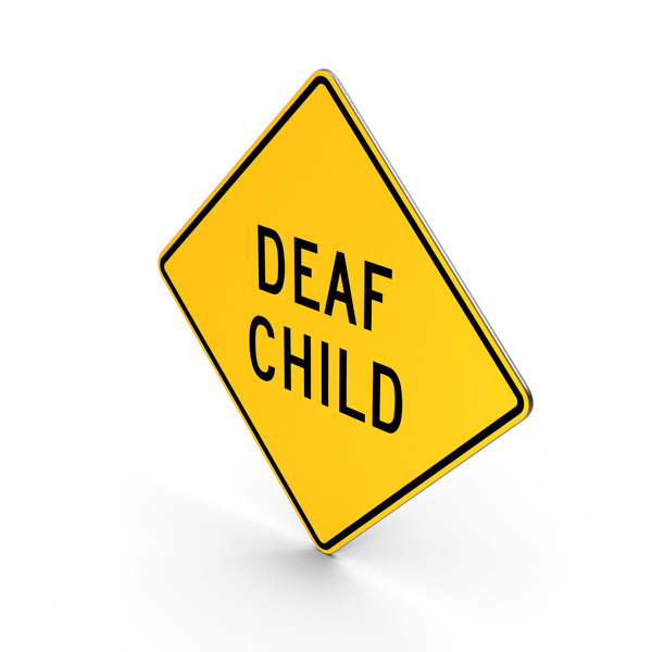 Deaf Child Delaware Road Sign PNG & PSD Images