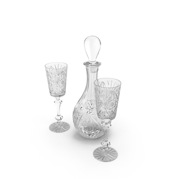 Decanter Set PNG & PSD Images