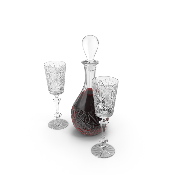 Decanter Set with Wine Object
