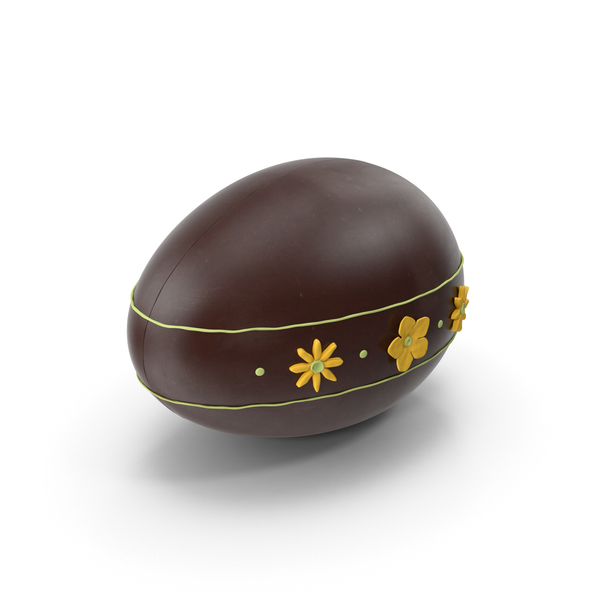 Easter: Decorated Chocolate Egg PNG & PSD Images