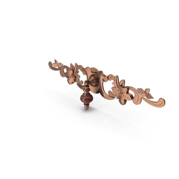 Doorknob: Decorated Knob Metalic PNG & PSD Images