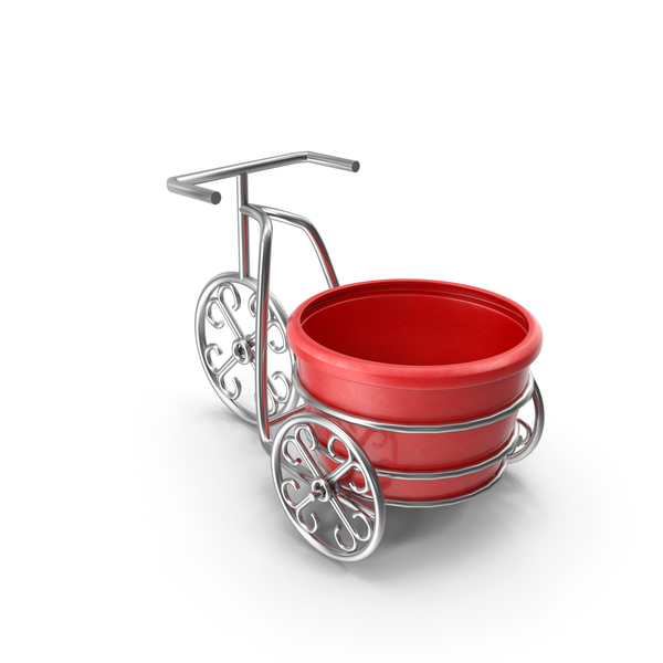 Decorative Bike Flower Pot PNG & PSD Images