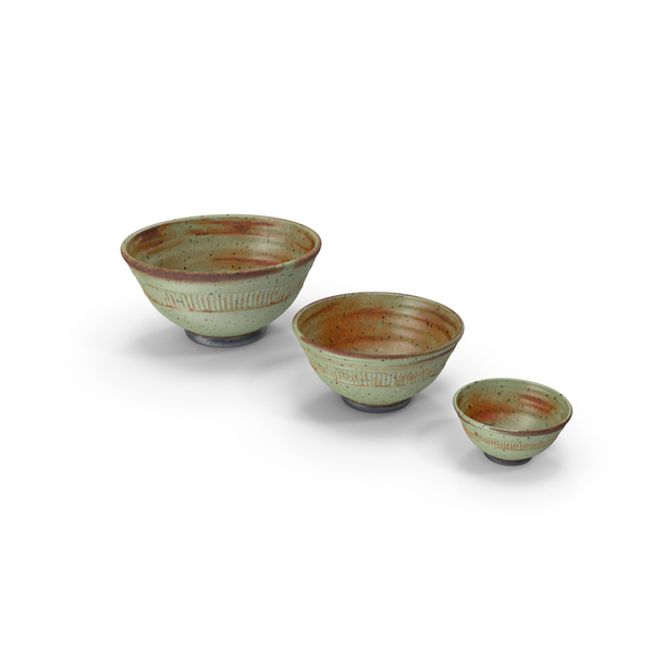 Decorative Bowl Set PNG & PSD Images