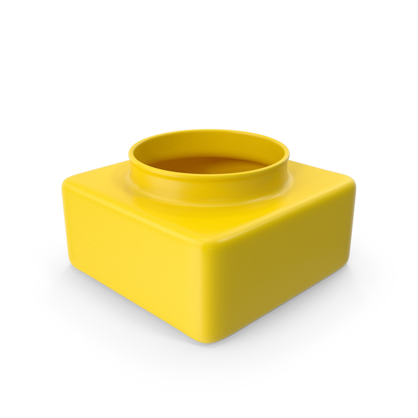 General Decor: Decorative Container Yellow PNG & PSD Images