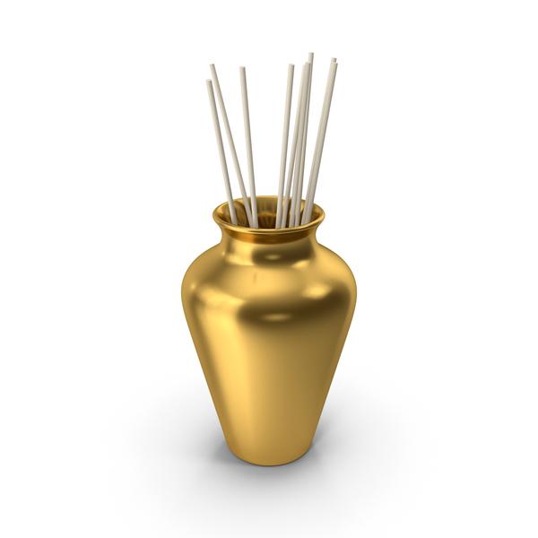 Pot: Decorative Pottery Gold PNG & PSD Images