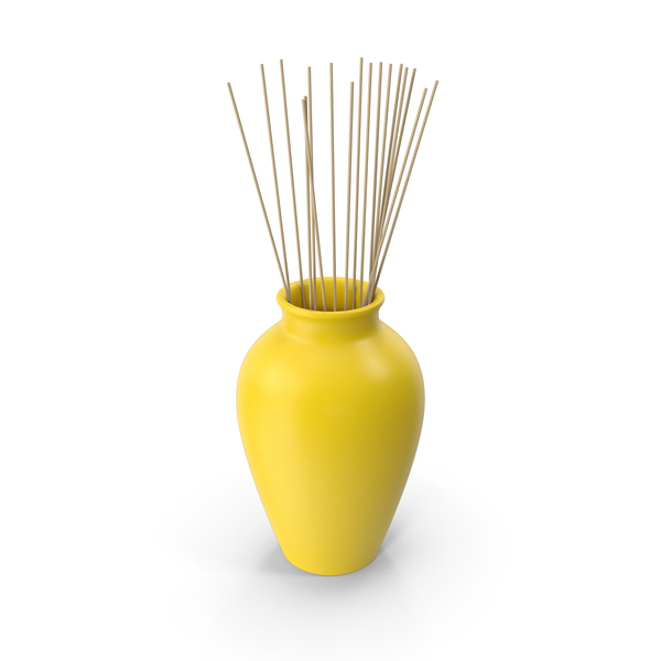 Vase: Decorative Pottery Yellow PNG & PSD Images