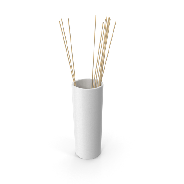 Decorative Tube Vase White PNG & PSD Images