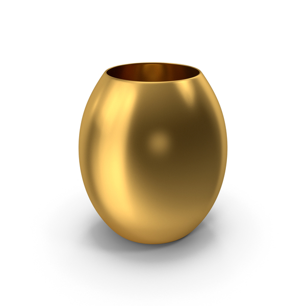 Decorative Vase Gold PNG & PSD Images