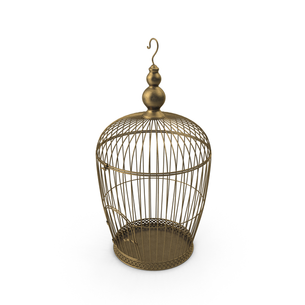 Decorative Vintage Bird Cage PNG & PSD Images