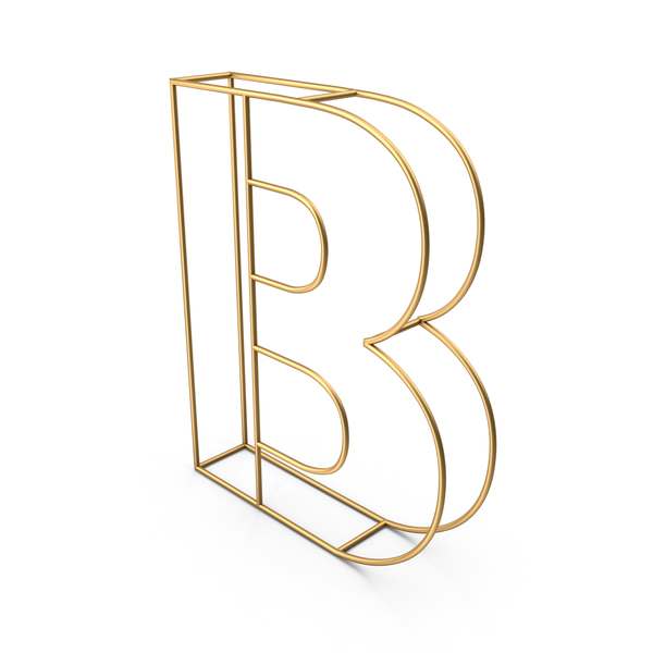 Decorative Wire Letter B PNG & PSD Images