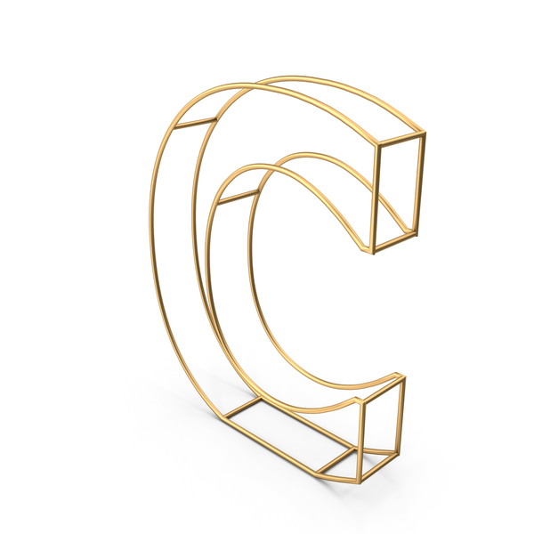 Decorative Wire Letter C PNG & PSD Images