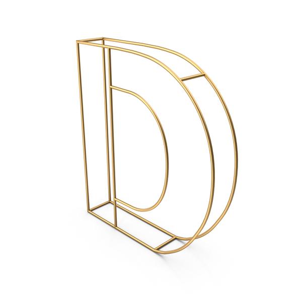 Decorative Wire Letter D PNG & PSD Images