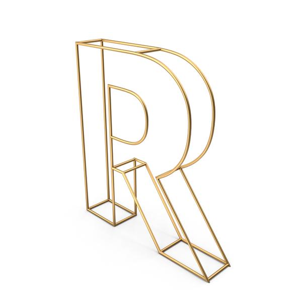Language: Decorative Wire Letter R PNG & PSD Images