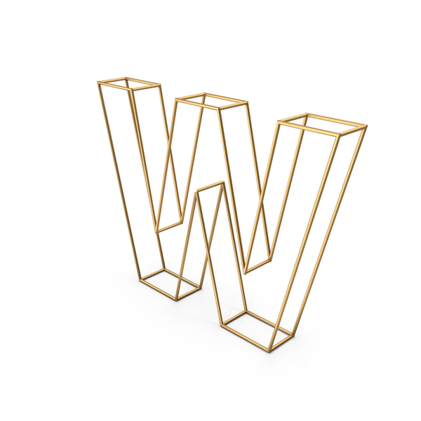 Decorative Wire Letter W PNG & PSD Images
