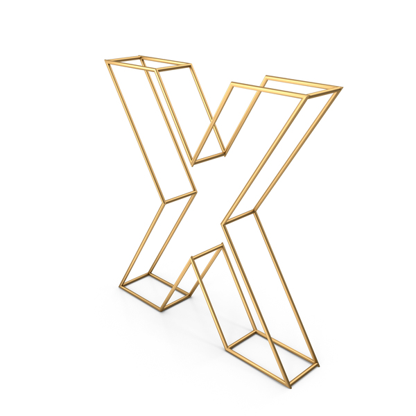 Decorative Wire Letter X PNG & PSD Images