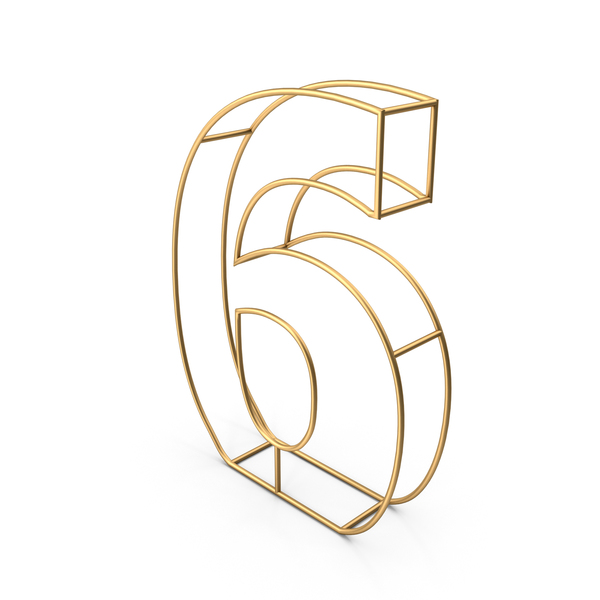 Decorative Wire Number 6 PNG & PSD Images