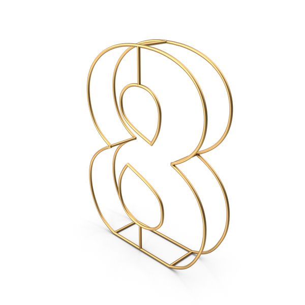 Decorative Wire Number 8 PNG & PSD Images