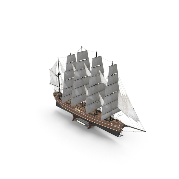Decorative Wooden Ship PNG & PSD Images