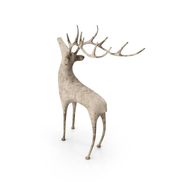 Deer Statuette PNG & PSD Images