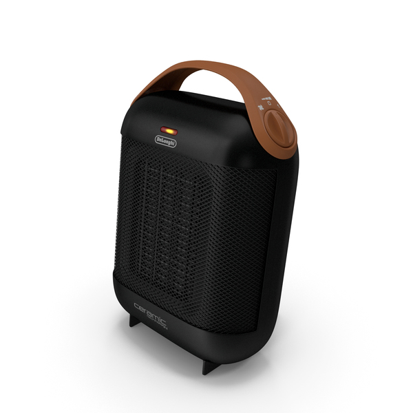 DeLonghi HFX30C18IW Ceramic Heater Black PNG & PSD Images