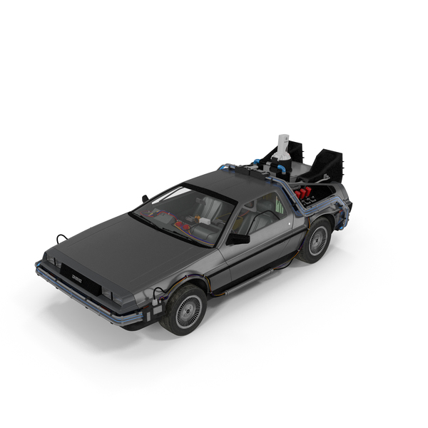 DeLorean DMC-12 Time Machine PNG & PSD Images