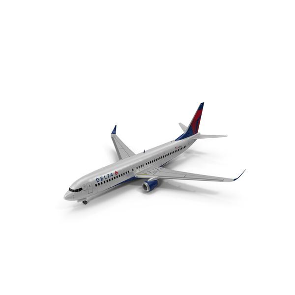 Airliner: Delta boeing 737 800 PNG & PSD Images