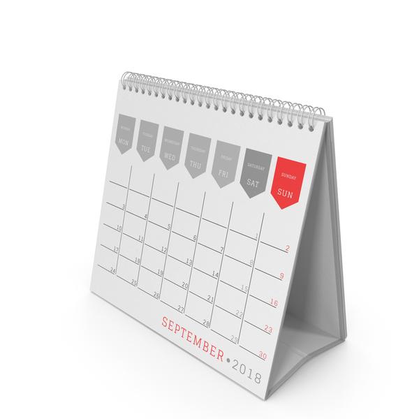 Desk Calendar 2018 PNG & PSD Images