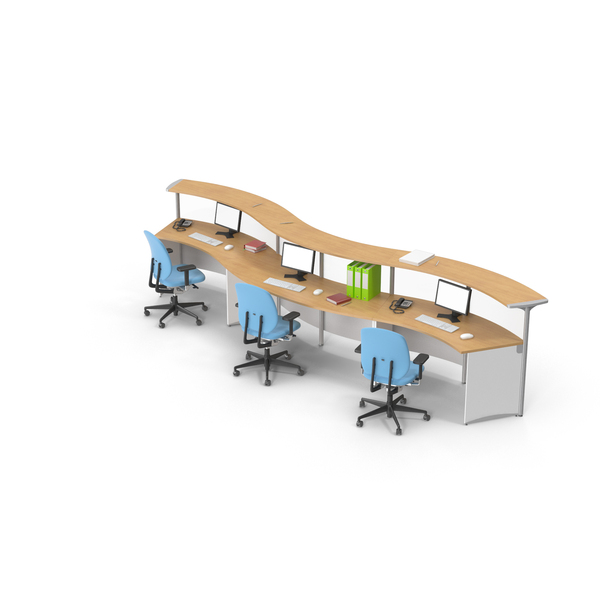 Office Furniture Collections: Desk Set PNG & PSD Images