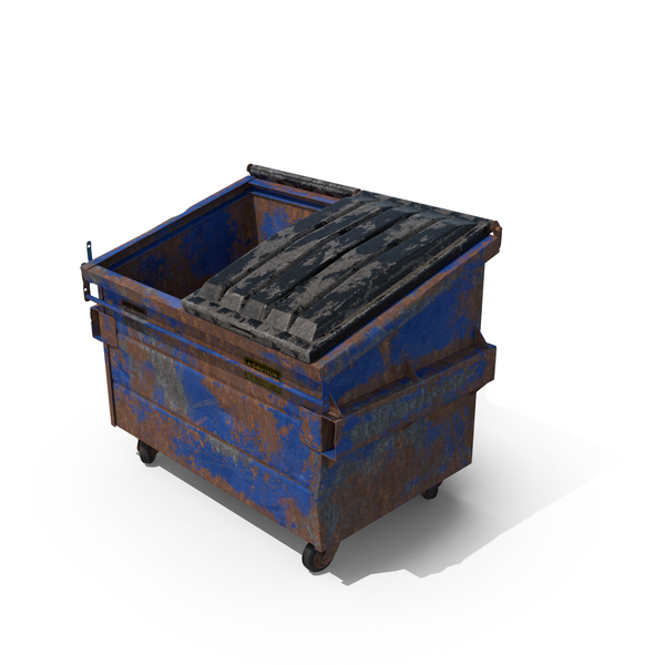 Destroyed Dumpster Half Open PNG & PSD Images