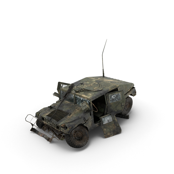 Destroyed Military Humvee Object