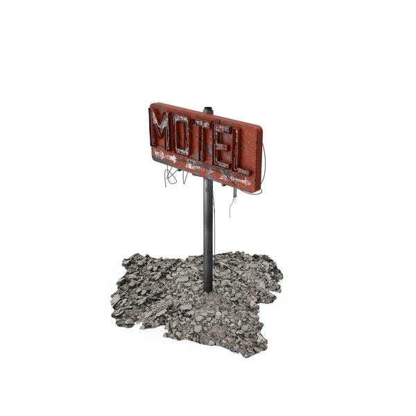 Destroyed Motel Sign Object