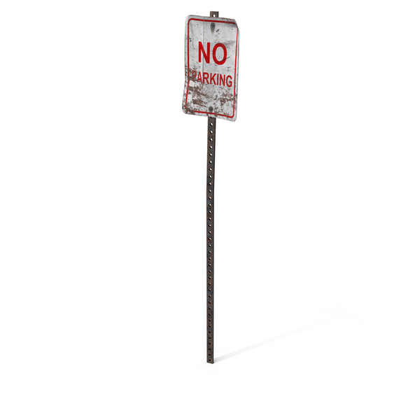 Destroyed No Parking Sign PNG & PSD Images