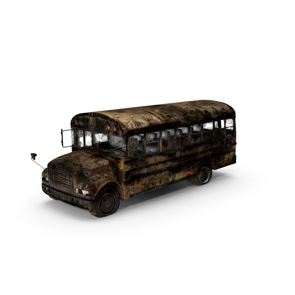 Destroyed School Bus Object