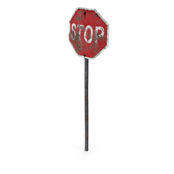 Destroyed Stop Sign Object