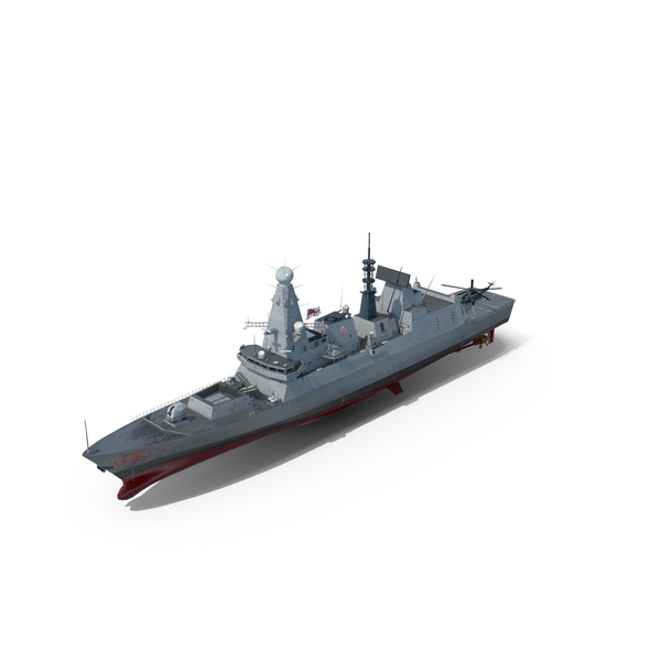 Destroyer HMS Dragon D35 Type 45 PNG & PSD Images