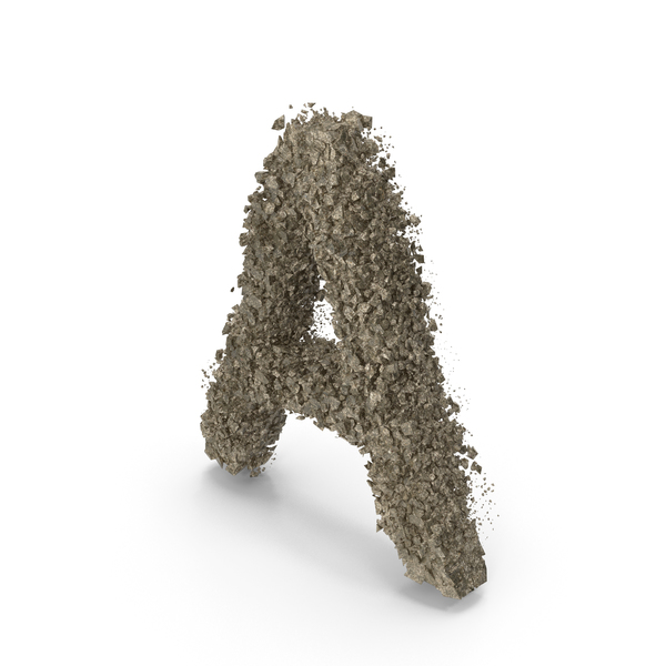 Destruction Stone Letter A PNG & PSD Images