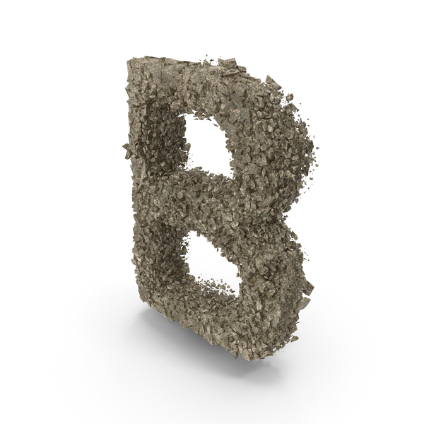 Destruction Stone Letter B PNG & PSD Images