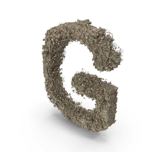 Destruction Stone Letter G PNG & PSD Images