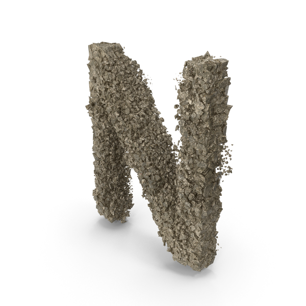 Destruction Stone Letter N PNG & PSD Images