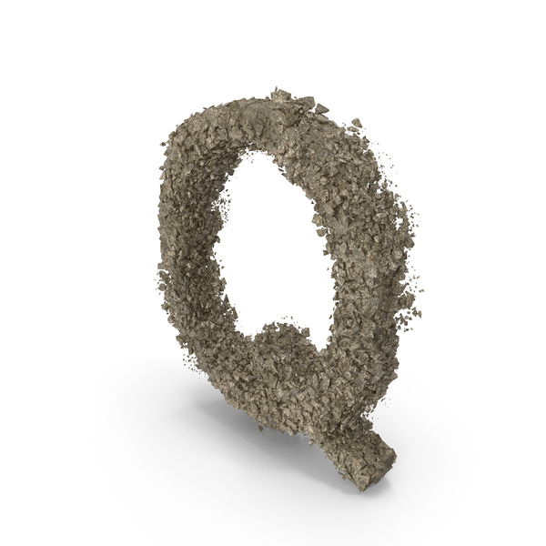 Destruction Stone Letter Q PNG & PSD Images