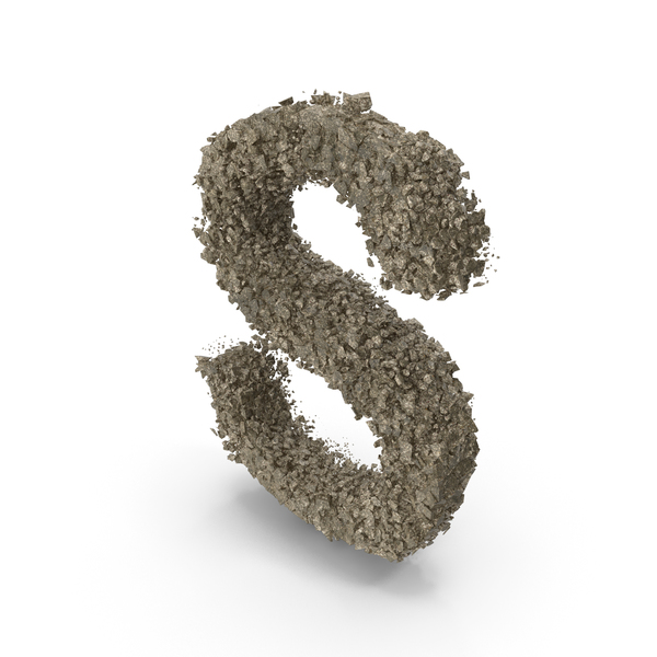 Destruction Stone Letter S PNG & PSD Images