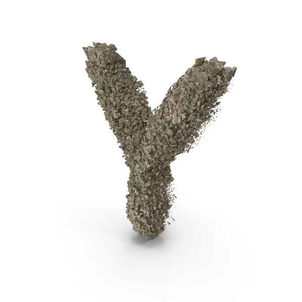 Destruction Stone Letter Y PNG & PSD Images