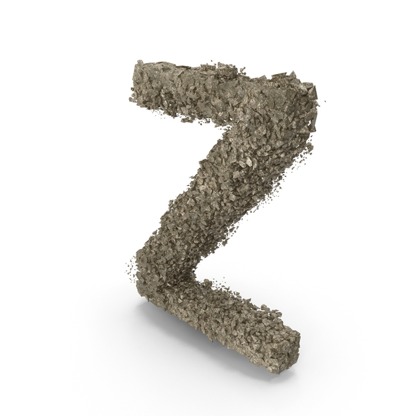 Destruction Stone Letter Z PNG & PSD Images