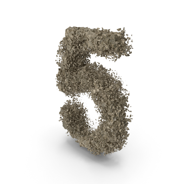 Destruction Stone Number 5 PNG & PSD Images