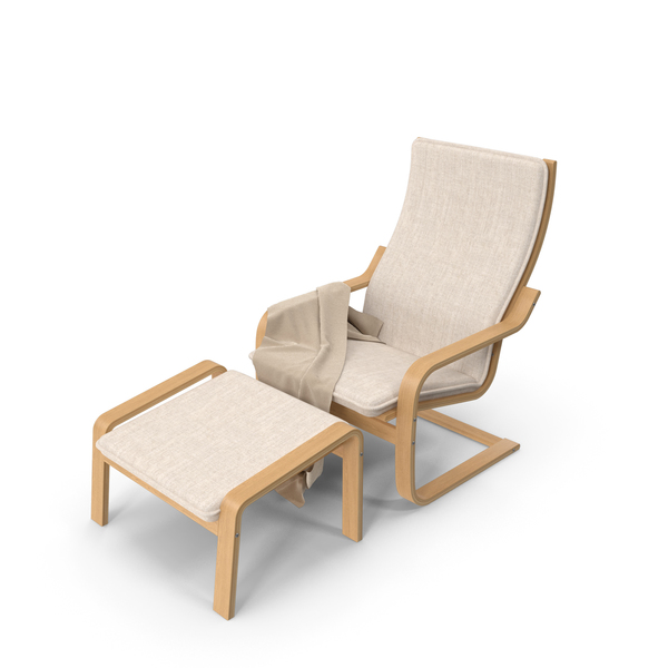 Detailed Ikea Poang Chair PNG & PSD Images