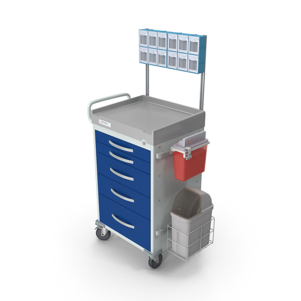 Detecto Medical Cart with Organizer PNG & PSD Images