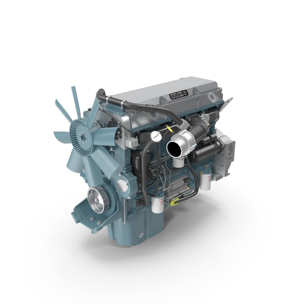 Detroit Diesel Series 60 Engine PNG & PSD Images