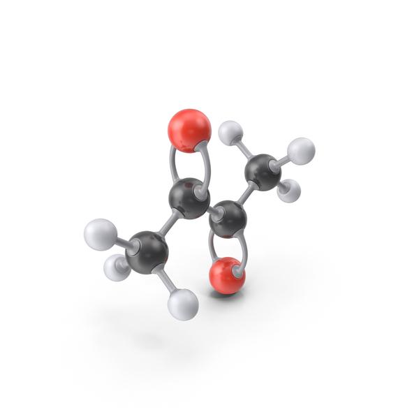 Diacetyl Molecule PNG & PSD Images